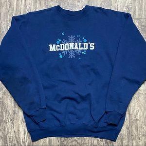 Vintage McDonalds Crewneck Sweatshirt Size XL